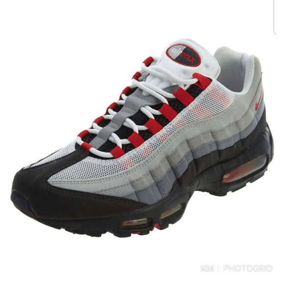 95 Mens Sport Grey Shoes White Air Max Nike Red uTl3JcFK15